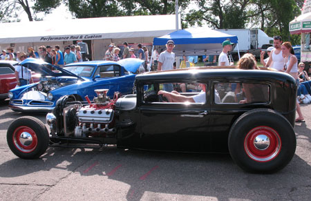at the back to the 50s show in st paul minnesota this past summer a rat rod caught all the attention from fans there is something so neat about them