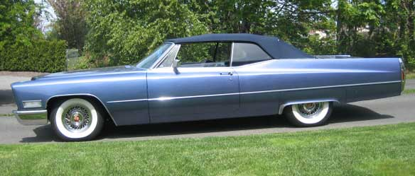 1968 Cadillac DeVille Convertible Coupe