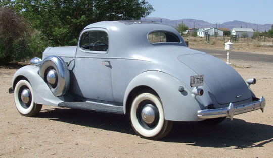 1937 packard 3 w dual sidemount coupe for 1937 packard 3 window coupe