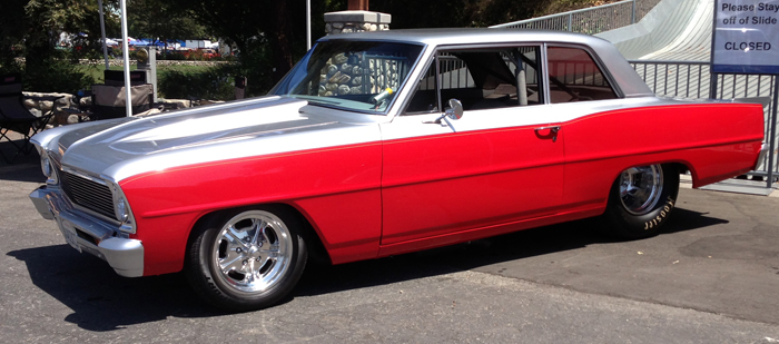 Chev on 6 Point Roll Cage For 1966 Nova