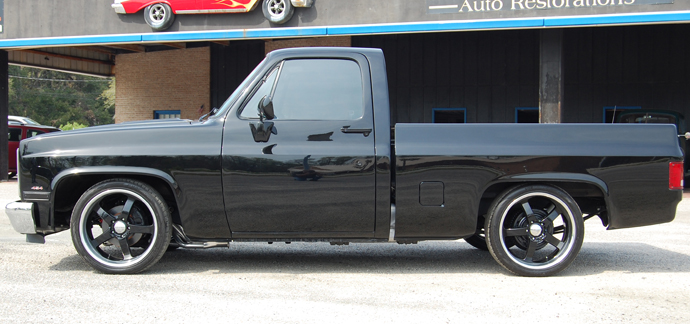 86 chevy c10 lowered
