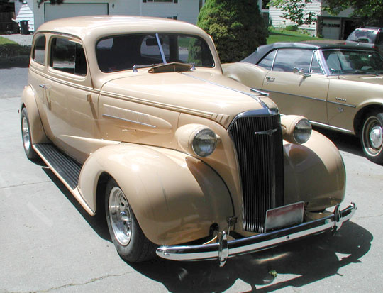 1937 chevy 2 door sedan