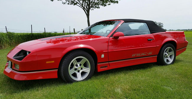 1990 camaro iroc z convertible. Black Bedroom Furniture Sets. Home Design Ideas