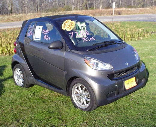 2009 Smart Car Fortwo Convertible