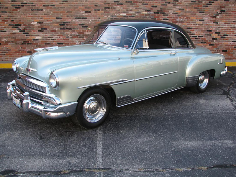 Chev Lightbox on 1951 chevy coupe classic car
